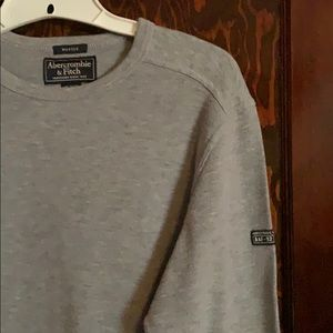 Men's ABERCROMBIE light gray pullover